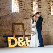 Gorgeous Home Made Pink & Gold Barn Wedding
