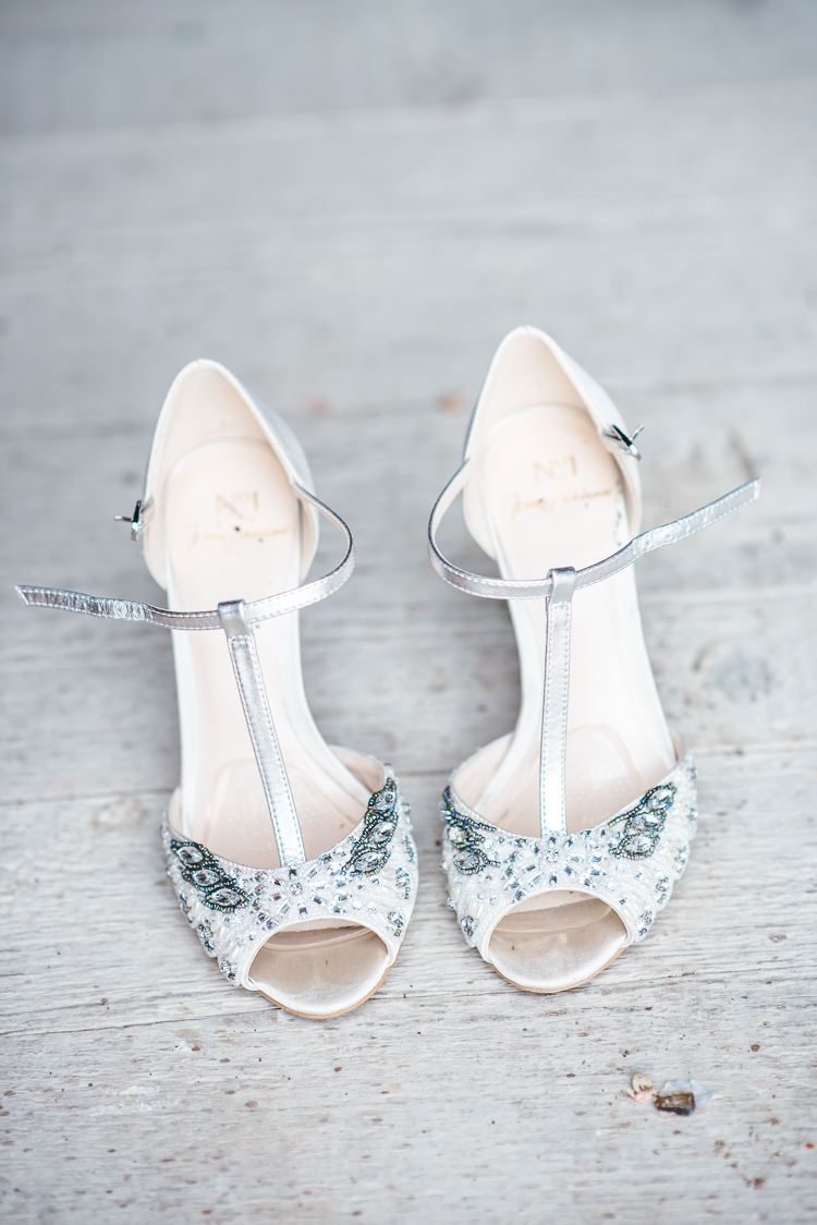 Bride Shoes Heels T Bar Peep Toe Silver Gorgeous Home Made Pink Gold Barn Wedding http://www.bethmoseleyphotography.co.uk/