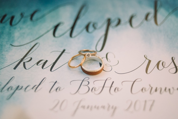 Rings Band Yellow Gold Wood Diamond Engagement Bohemian Styled Vow Renewal https://libertypearlphotography.com/