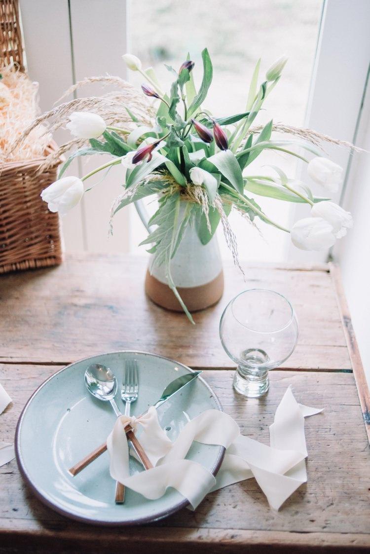 Tulip Flowers Wedding Jug Decor Table Bohemian Styled Vow Renewal https://libertypearlphotography.com/