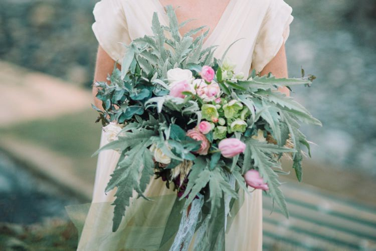 Large Bouquet Flowers Wild Natural Greenery Foliage Wedding Bohemian Styled Vow Renewal https://libertypearlphotography.com/