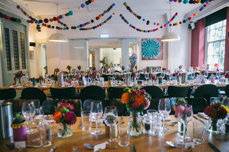 Planetarium Space Frida Kahlo Colourful Wedding http://carohutchings.com/