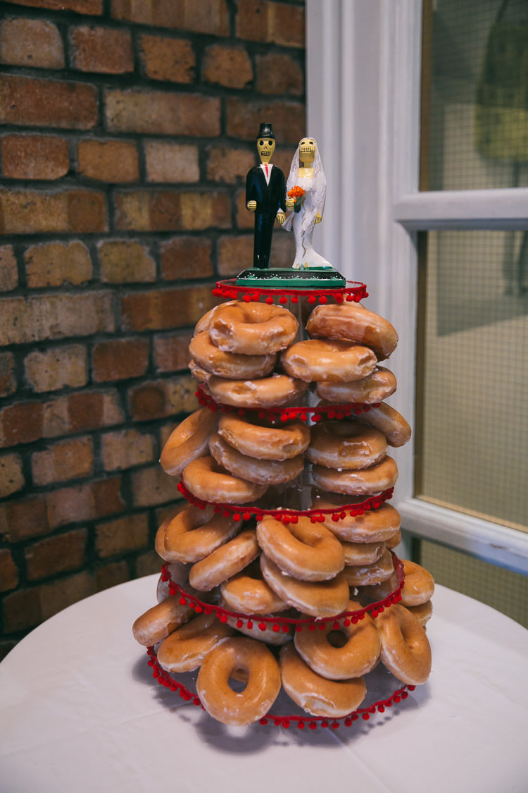 Donut Tower Day of the Dead Planetarium Space Frida Kahlo Colourful Wedding http://carohutchings.com/