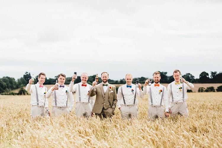 Bow Tie Braces Groomsmen All Things Big Bright Beautiful Multicolour Wedding http://benjaminmathers.co.uk/