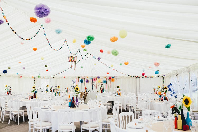 Rainbow Colourful Decor Marquee Tent All Things Big Bright Beautiful Multicolour Wedding http://benjaminmathers.co.uk/