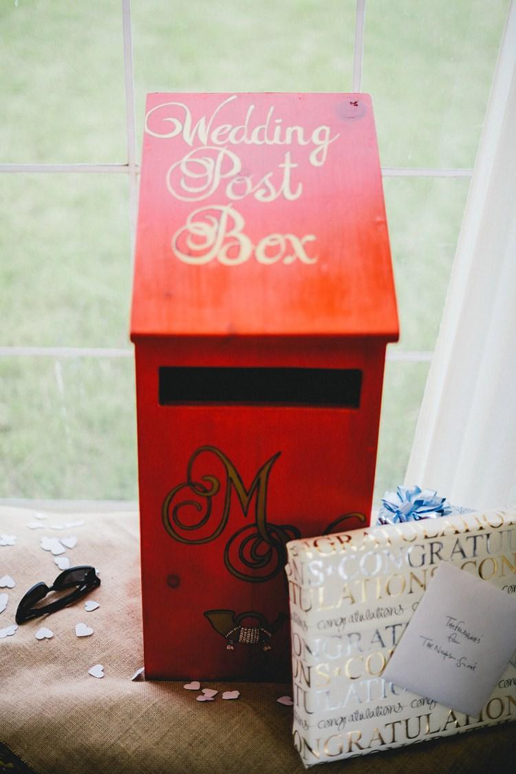 Card Post Box All Things Big Bright Beautiful Multicolour Wedding http://benjaminmathers.co.uk/