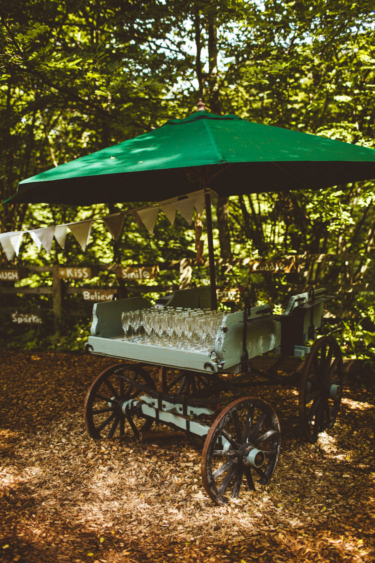 Drink Cart Station Bar Pretty DIY Outdoor Village Hall Wedding https://photography34.co.uk/
