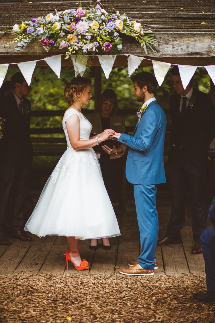 Ceremony Flowers Arch Arbour Gazebo Pretty DIY Outdoor Village Hall Wedding https://photography34.co.uk/