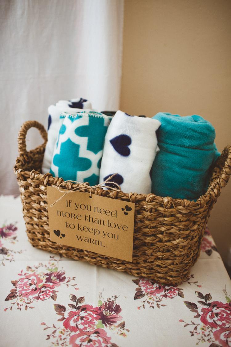 Blanket Basket Pretty DIY Outdoor Village Hall Wedding https://photography34.co.uk/