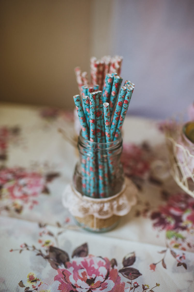 Floral Straws Pretty DIY Outdoor Village Hall Wedding https://photography34.co.uk/