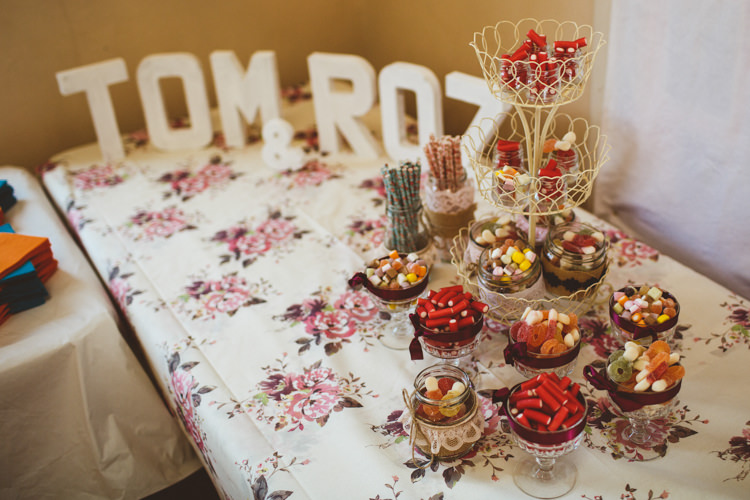 Sweets Sweetie Table Pretty DIY Outdoor Village Hall Wedding https://photography34.co.uk/