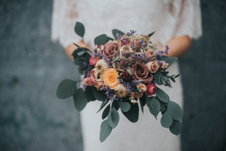 Alternative Wedding Flower Ideas Dried Bouquet