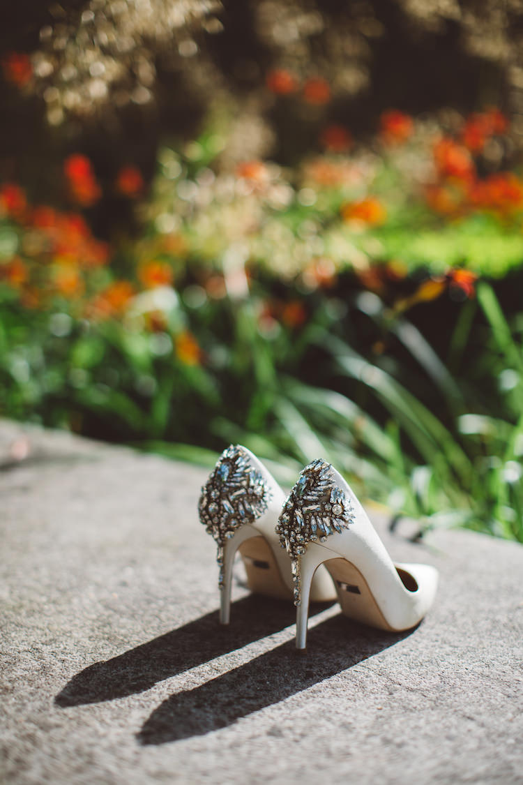 Badgley Mischka Poetry Dress Shoes Bride Bridal Heels Cotswolds Country House Marquee Wedding http://www.wearegatheredheretoday.com/