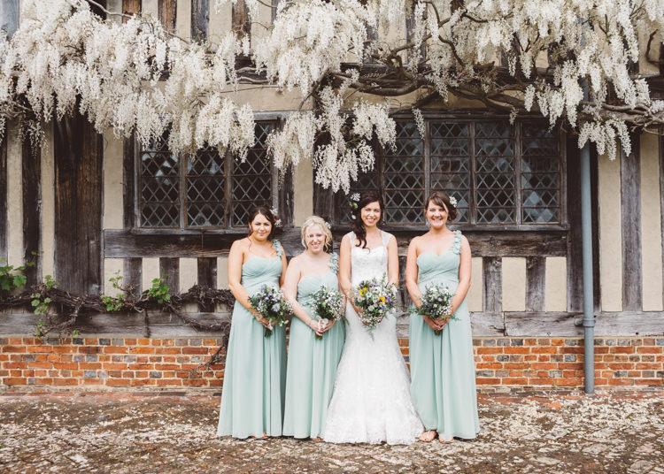 Long Mint Green Bridesmaid Dresses Natural Woodland Hessian Lace Wedding http://holliecarlinphotography.com/