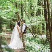 Natural Woodland Hessian & Lace Wedding