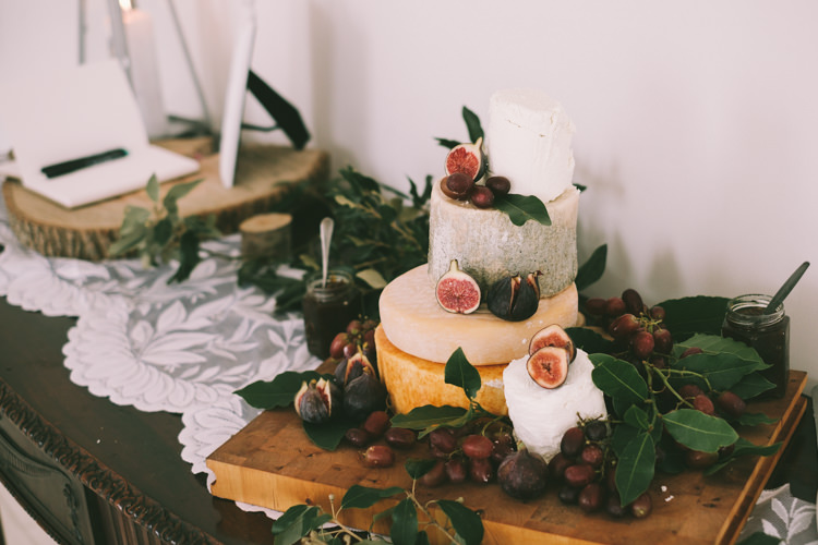 Cheese Stack Tower Cake Pretty Light Pink Country House Wedding http://jonathanryderphotography.com/