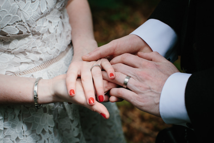 Red Nails Bride Bridal Intimate Indie Woodland Wedding http://www.caroweiss.com/