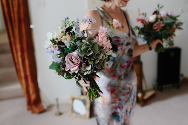 Bridesmaid Bouquet Flowers Pink Lilac Intimate Indie Woodland Wedding http://www.caroweiss.com/