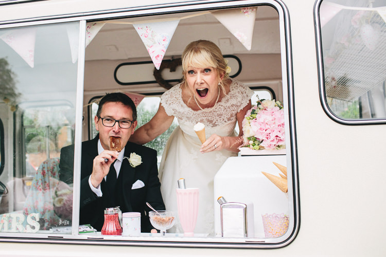 Ice Cream Van Vintage Bunting Relaxed Country Garden Party Wedding http://www.jessicaoshaughnessy.co.uk/