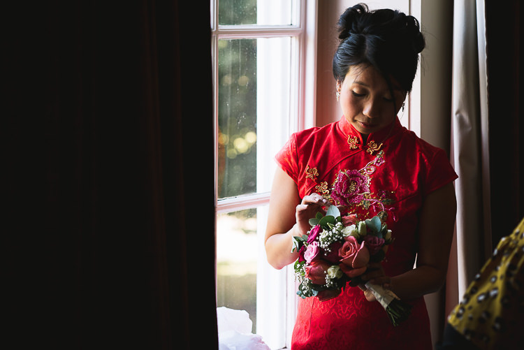 Red Chinese Wedding Dress Bride Bridal Gown Relaxed Outdoor City Park Festival Wedding http://kristianlevenphotography.co.uk/