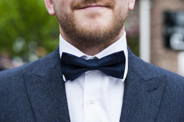 Bow Tie Groom Whimsical Summery Lilac Wedding http://eleanorjaneweddings.co.uk/