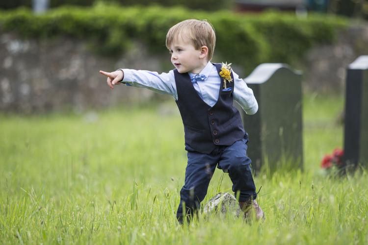 Page Boy Bow Tie Waistcoat Whimsical Summery Lilac Wedding http://eleanorjaneweddings.co.uk/