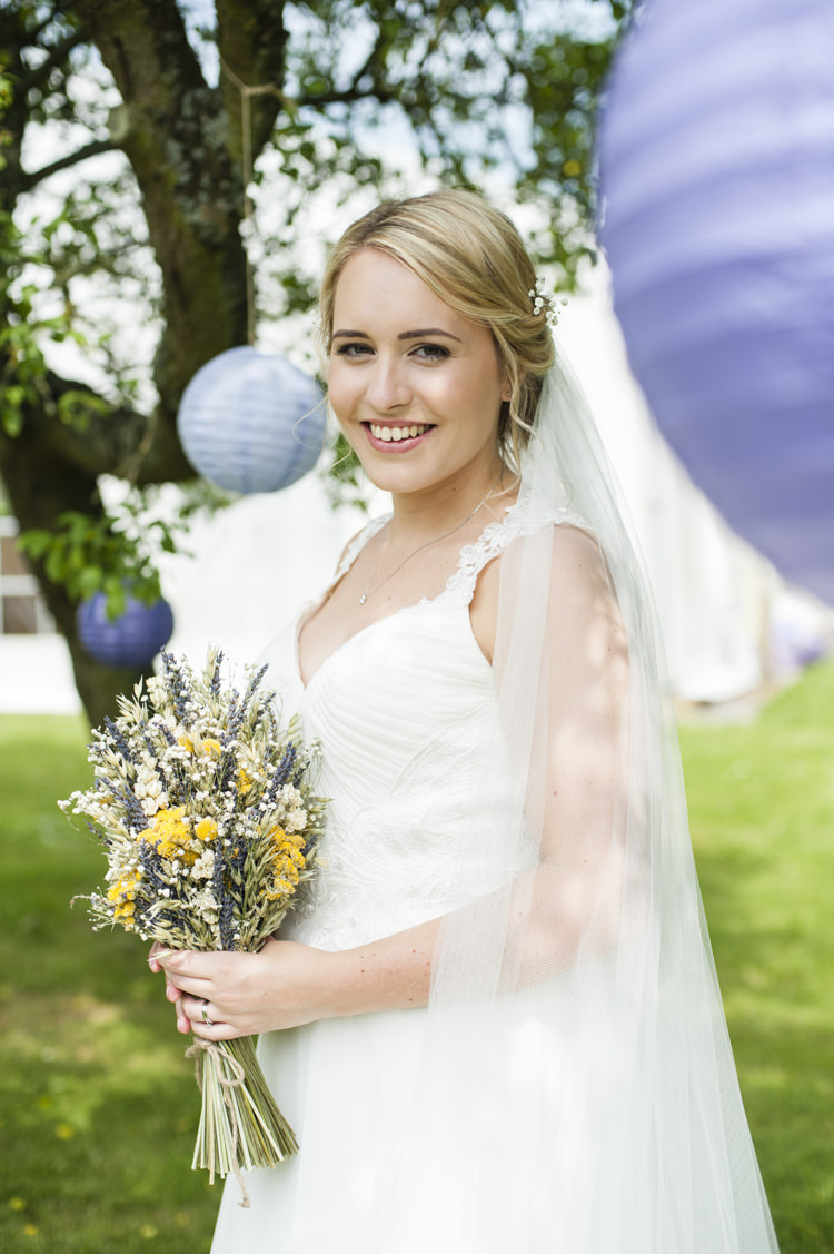 Bride Bridal Veil Pretty Hair Make Up Whimsical Summery Lilac Wedding http://eleanorjaneweddings.co.uk/