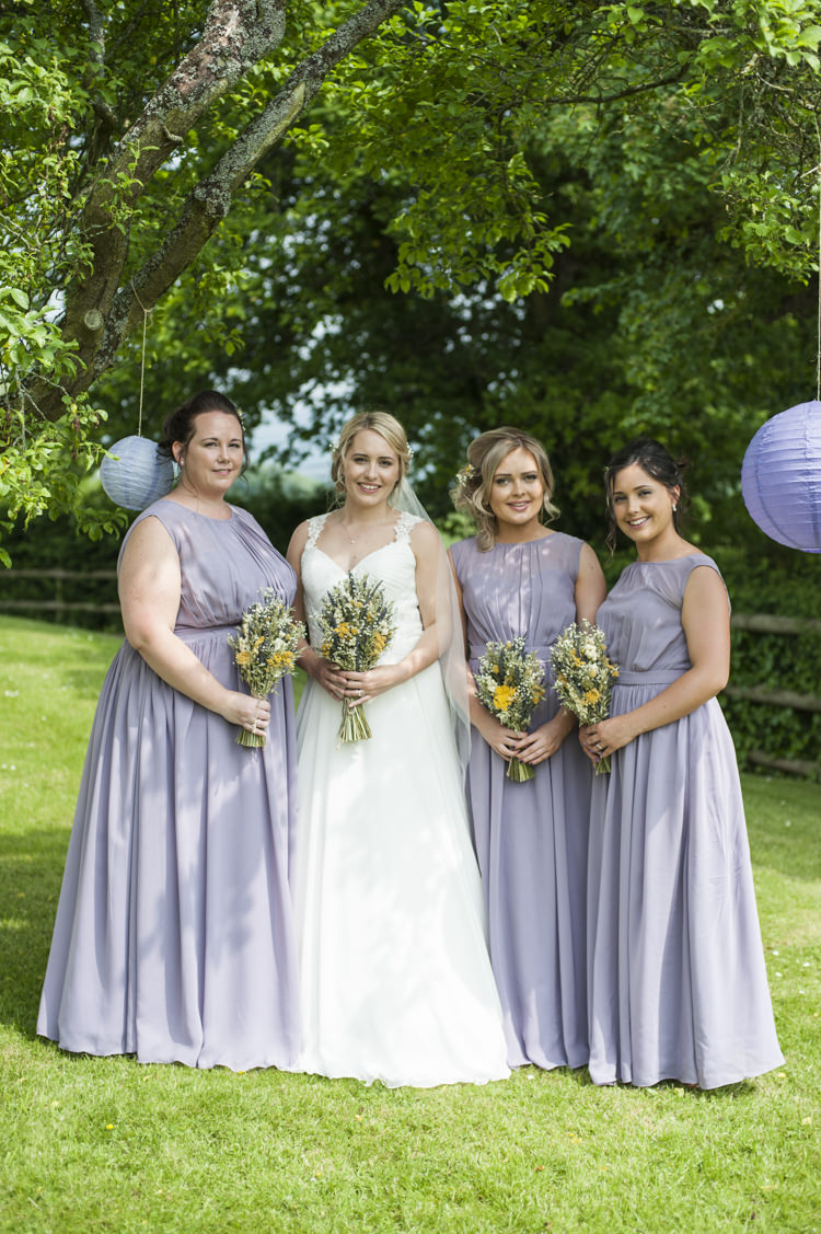 Long Bridesmaid Dresses Whimsical Summery Lilac Wedding http://eleanorjaneweddings.co.uk/