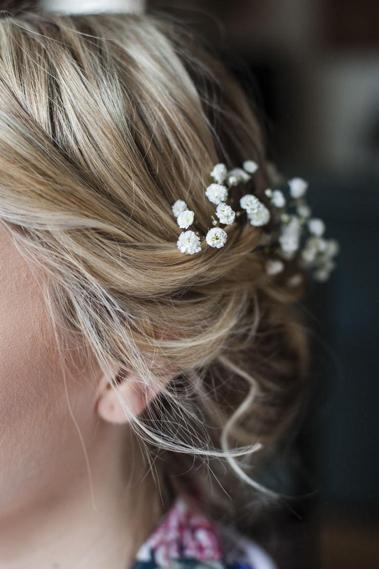 Hair Bride Bridal Gyp Gypsophila Whimsical Summery Lilac Wedding http://eleanorjaneweddings.co.uk/