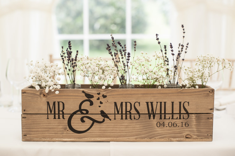 Crate Flowers Gypshophila Lavender Whimsical Summery Lilac Wedding http://eleanorjaneweddings.co.uk/