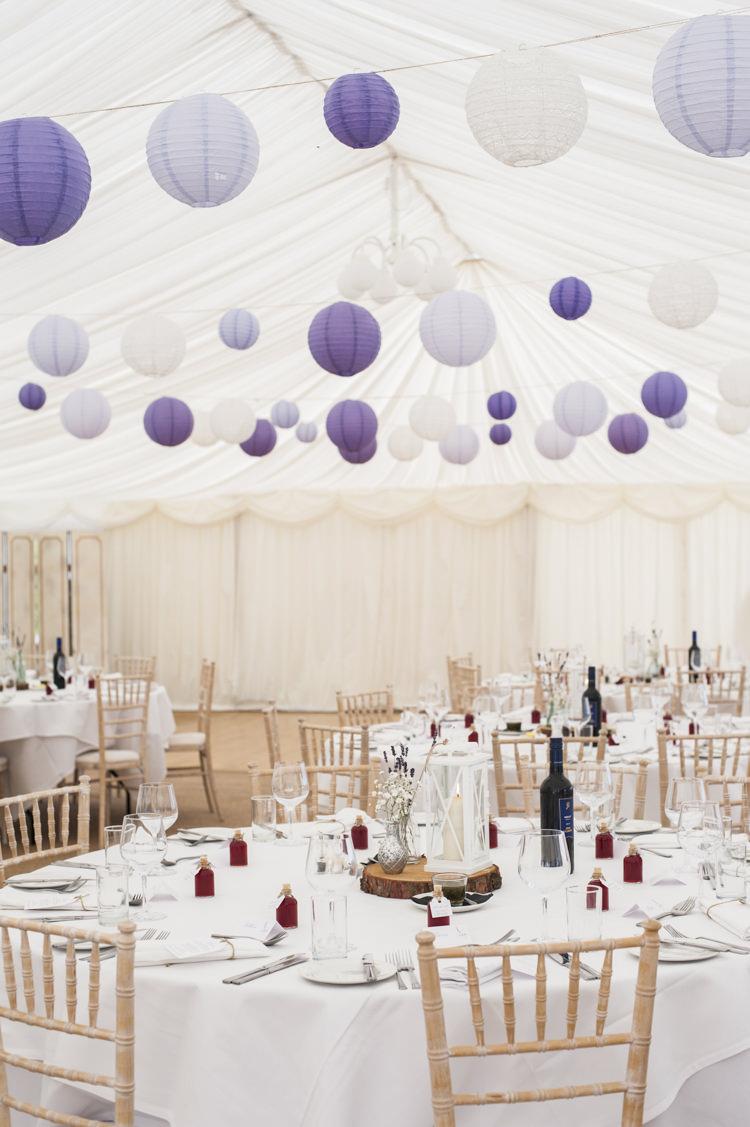 Lanterns Marquee Purple Whimsical Summery Lilac Wedding http://eleanorjaneweddings.co.uk/
