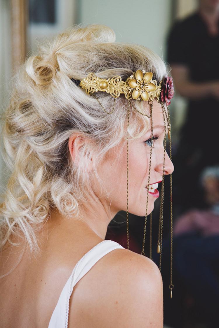 Hair Chain Headress Wild Artistic Ethereal Wedding http://sarahannweddings.com/