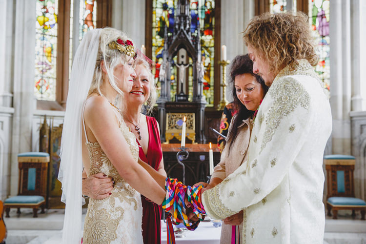 Handfasting Ceremony Wild Artistic Ethereal Wedding http://sarahannweddings.com/