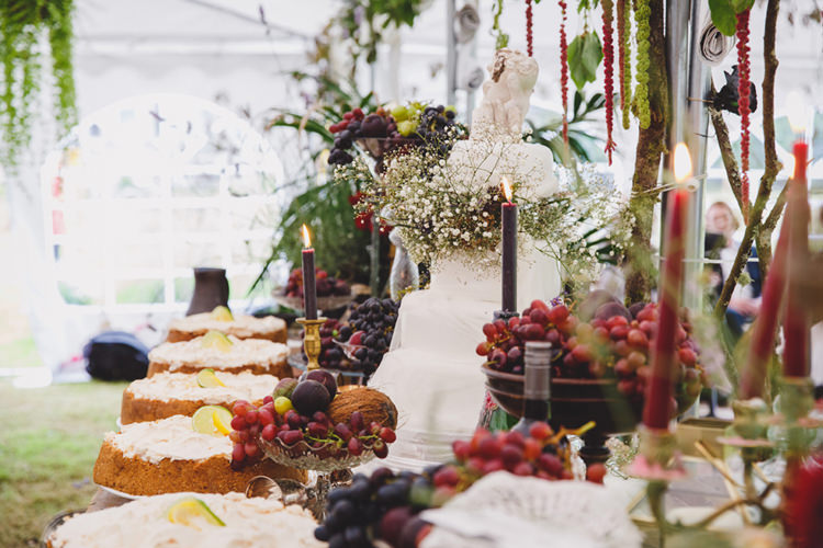 Banquet Table Setting Wild Artistic Ethereal Wedding http://sarahannweddings.com/