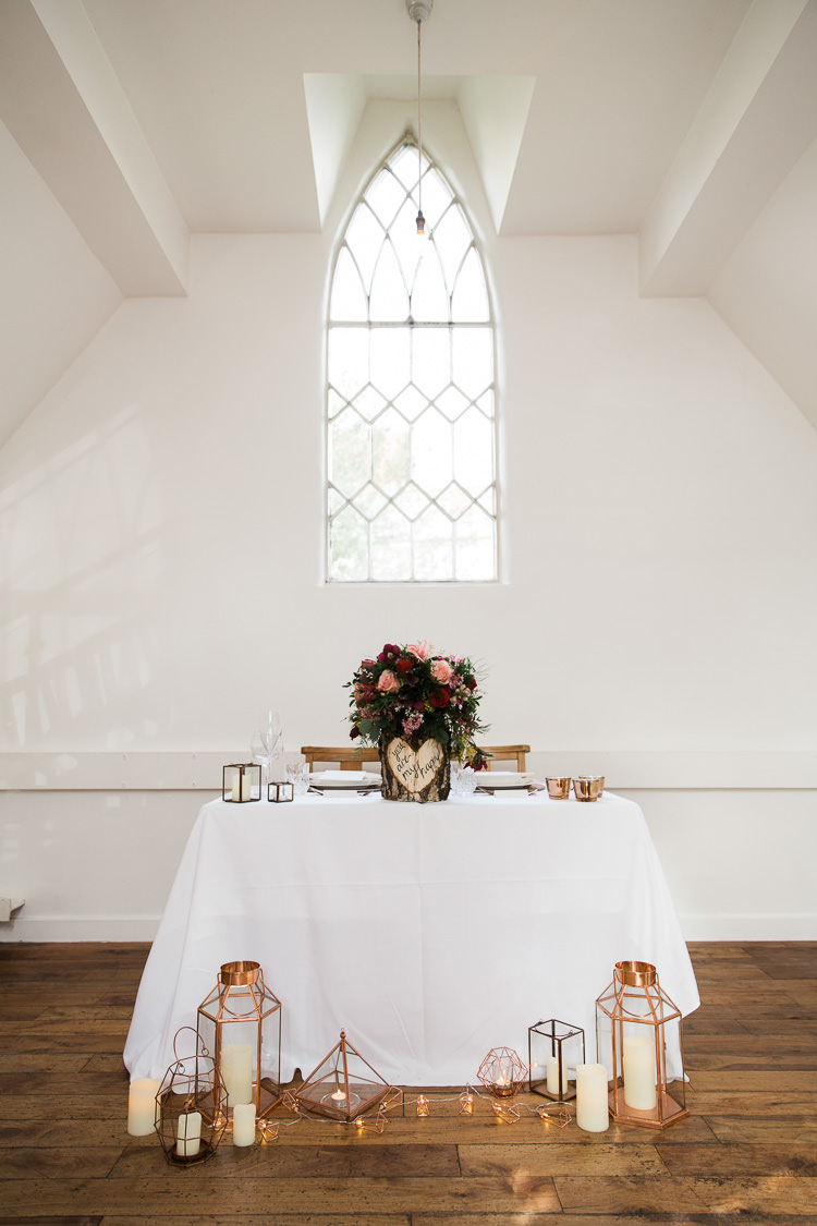 Tablescape Decor Candles Luxe Copper & Red Wedding Ideas http://www.danielle-smith-photography.com/
