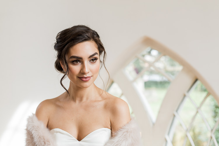 Bride Bridal Make Up Natural Luxe Copper & Red Wedding Ideas http://www.danielle-smith-photography.com/