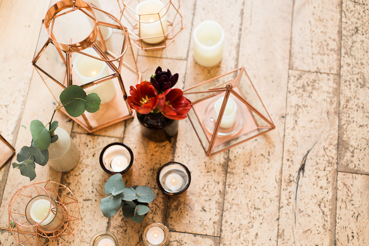 Candles Lanterns Luxe Copper & Red Wedding Ideas http://www.danielle-smith-photography.com/