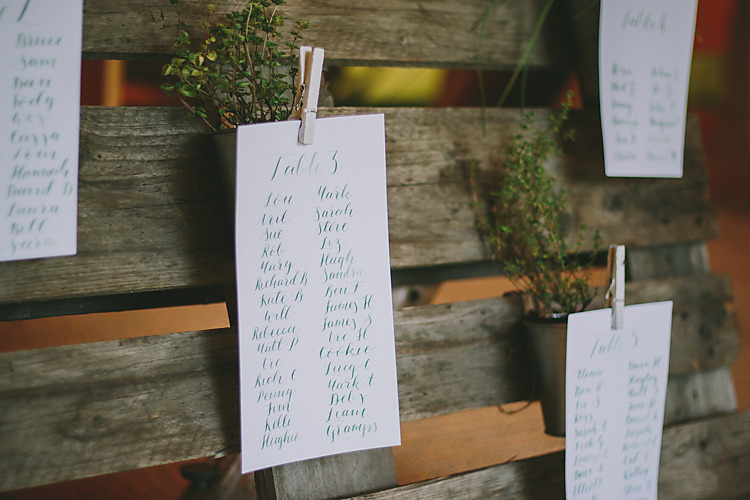 Pallet Wooden Seating Plan Table Chart Lovely Greenery Farm Tipi Wedding http://www.victoriasomersethowphotography.co.uk/
