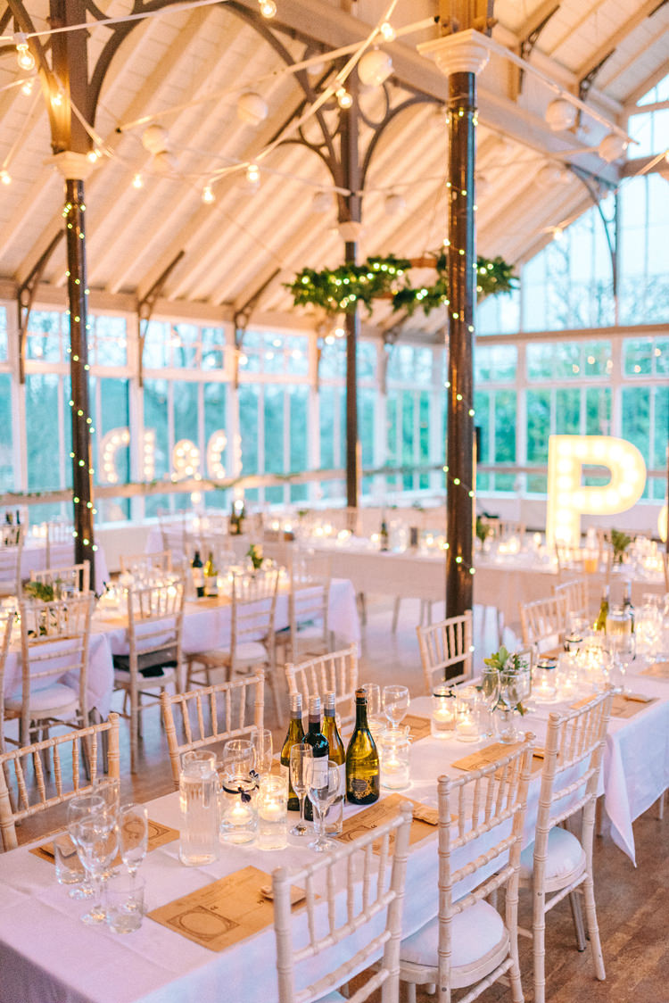 Fairy Festoon Lights Decor Playful Stylish Navy Winter Wedding http://sarahjaneethan.co.uk/