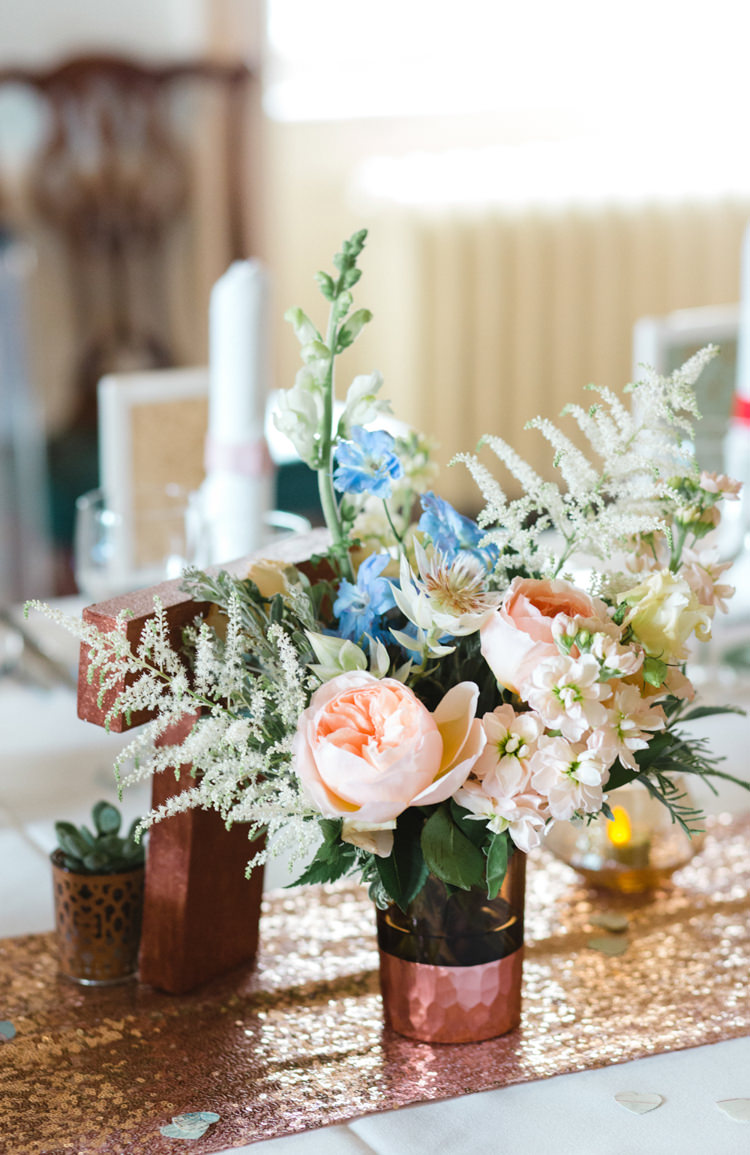 Flowers Metallics Sequins Peach White Wild Pretty Whimsical Pastel Travel Wedding https://www.thegibsonsphotography.co.uk/