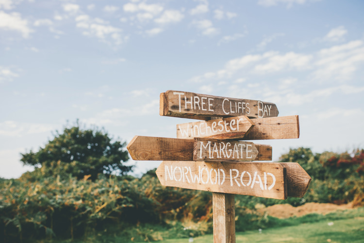 Rustic Wooden Sign Post Bright Retro Vintage Sea Wedding http://www.larissajoice.co.uk/