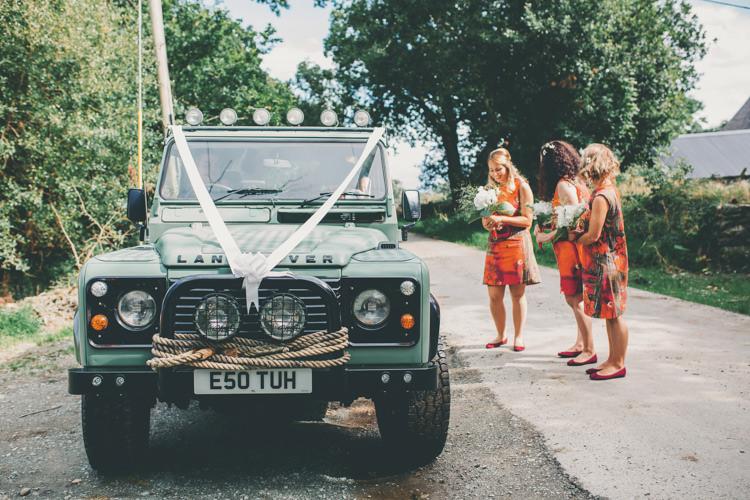 Land Rover Car Transport Bright Retro Vintage Sea Wedding http://www.larissajoice.co.uk/