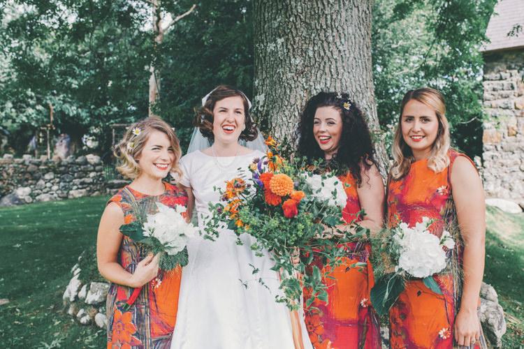 Bridesmaid Dresses DIY Hand Made Orange Bright Retro Vintage Sea Wedding http://www.larissajoice.co.uk/