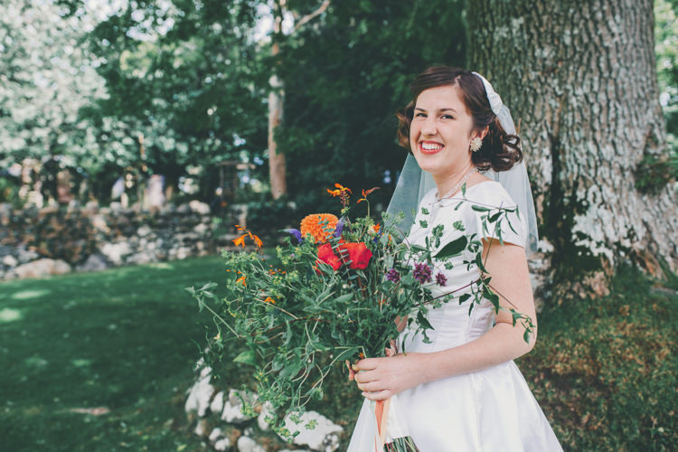 Short 1950s 1960s Dress Gown Bride Bridal Bright Retro Vintage Sea Wedding http://www.larissajoice.co.uk/