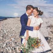 Bright Retro Vintage Wedding by the Sea