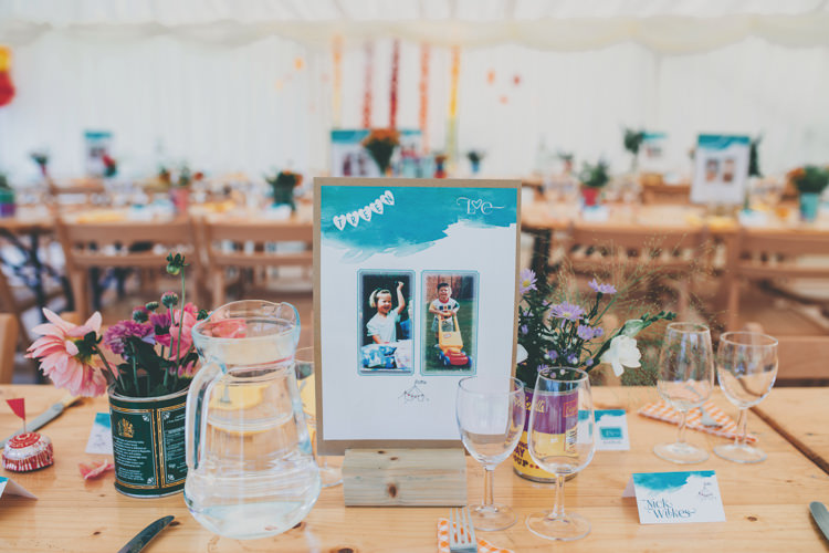 Photo Childhood Table Names Bright Retro Vintage Sea Wedding http://www.larissajoice.co.uk/