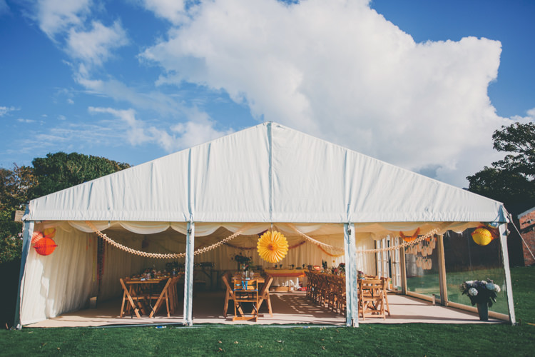 Clear Open Marquee Sides Tent Bright Retro Vintage Sea Wedding http://www.larissajoice.co.uk/