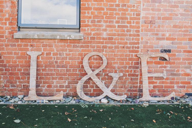 Giant Wooden Letter Initials Decor Sign Bright Retro Vintage Sea Wedding http://www.larissajoice.co.uk/