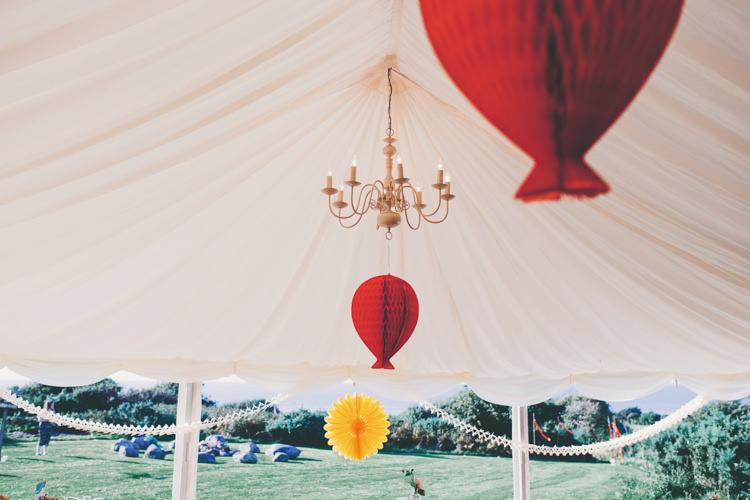 Honey Comb Balloon Lanterns Bright Retro Vintage Sea Wedding http://www.larissajoice.co.uk/