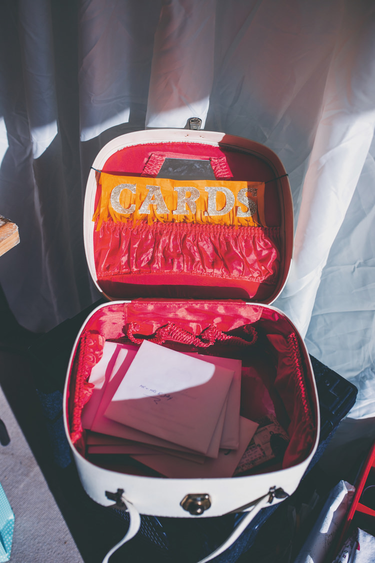 Suitcase Cards Bright Retro Vintage Sea Wedding http://www.larissajoice.co.uk/